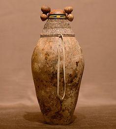 Maiden with wrapped throat figure by Robert Rivera Aboriginal Dot Art, Gourd Art, Native Art, Gourds, Natural Materials, Art Pieces, Carving, Ceramics, Fine Art