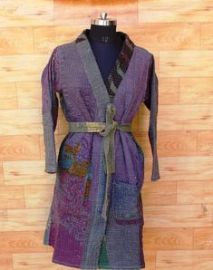 Kimono Jacket, Vintage Coat, Long Jackets, Cotton Jacket, Kantha Quilt, Palazzo Pants, Quilted Jacket, 15 Years, Tank Dress