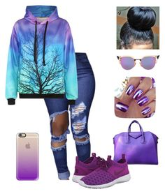 """""""School🎓👑"""" by omgitskaay ❤ liked on Polyvore featuring Fendi, Casetify, Givenchy and NIKE"""