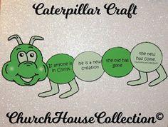 Caterpillar Craft For Sunday School