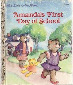 Little Golden Books Amanda's First Day of School