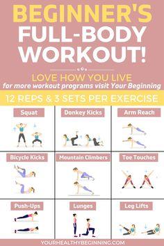 Best Full-Body Beginner Workout   No Equipment & At-Home Friendly