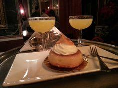 Savarin de Agua de Valencia by Crème Brûlée con Agua de Valencia by Café de Las Horas