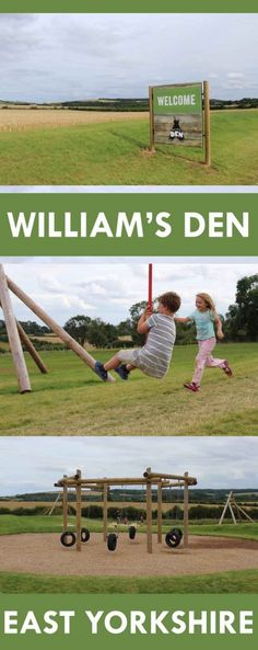 William's Den is the brand new family attraction opened recently near North Cave in East Yorkshire. There is a large outside and indoor adventure playground. The setting is idyllic – beautiful green rolling hills form a relaxing backdrop.  Fantastic family-friendly attraction in Yorkshire, England, UK.