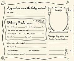 fun baby predictions, warm wishes, and great advice for the expectant parents with a baby shower guestbook!