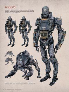 Robot Concept Art, Weapon Concept Art, The New Colossus, Futuristic Robot, Arte Cyberpunk, Wolfenstein, D&d Dungeons And Dragons, Geek Gear, Robot Design