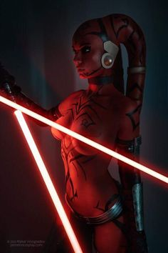 Goddess of Cosplay: Jannet Incosplay Vinogradova is an epic Darth Talon from Star Wars (Photo by Makar Vinogradov).