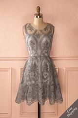 Holliday Silver - Silver lace party dress $86