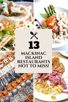 Mackinac Island Restaurants: My Top 13 NOT TO MISS! Michigan's gem, Mackinac Island, May be tiny but is fierce in the food department! Mackinac Island Michigan, Michigan Travel, Mackinac Island Restaurants, Oh The Places You'll Go, Places To Travel, Island Food, Travel Inspiration, Travel Ideas, Travel Tips