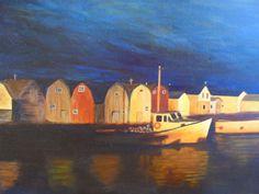 PrisecariuGeaninaArt:   fishing village 50x100 oil on canvas       ...