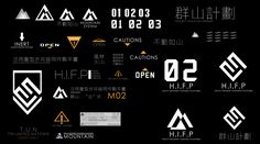 "ArtStation - ""Mountain"" H.I.F.P Robot, Theodore Zheng Typography Alphabet, Typography Logo, Graphic Design Typography, Graphic Design Illustration, Gfx Design, Icon Design, Logo Design, Gui Interface, Interface Design"