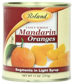 Roland Mandarin Oranges, Segments in Light Syrup, 11 Ounce (Pack of 24) > Limited discounts available now: at Baking Desserts recipes.