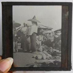 India 1930s Antique magic lantern glass Slide Photo Chineese People #Gs-34