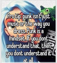 THATS WHY I HATE IT WHEN PEOPLE SAY THEYRE EMO OR PUNK. For the LAST TIME. Those are SUBCULTURES that require CERTAIN ASPECTS THAT MOST PEOPLE DONT HAVE