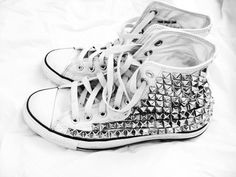 Studded Converse i have the perfect shirt that wud go that!!!! i want them now haha