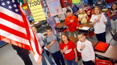 Some parents upset that Pledge of Allegiance being recited at elementary school. Here's why.