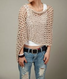 This loose weaved beautiful poncho is made of 100% eco cotton in nice light wheat shade. It is a perfect item for Fall that you want to feel a little warmer on a morning or evening. It also can be wear in winter as a scarf. Size: S(0-4)M(6-8)L(10-12)XL(12-14)Made for order.  Hand wash only and lay flat to dry.  I have other colors for this poncho. Pls. Check my shop for details: http://www.etsy.com/shop/MaxMelody?section_id=7175104  Made to order. Pls. Allow me 5-7 days to make it.  Thanks…