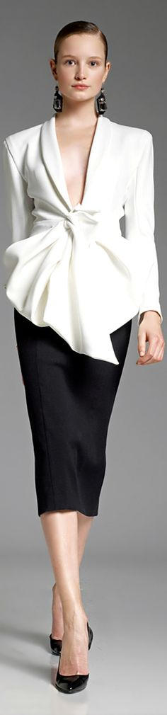 Donna Karan - I love the classic black & white style around the holidays