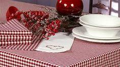 Risultati immagini per Linge de table esprit chalet