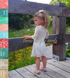 Flower Girl Dress Bridesmaid Junior Infant Size by ThreeMagicBirds