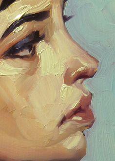 "rfmmsd:  Artist: John Larriva ""Loops"" Oil on Hardboard 7"" x..."