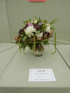 Class 25 - 'bride bouquet ' from English country garden in Floristry class in Southport flower show in 20-23rd August 2015