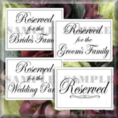 Art deco script reserved wedding signs set of 4 printable instant flourish script reserved wedding signs set of 4 digital diy signs printable download do it yourself 015 solutioingenieria Image collections