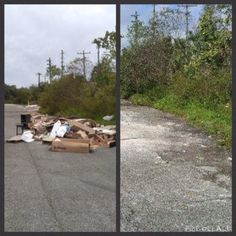 Before and After Pictures from an Oversized Debris Removal at the Kmart location in Jacksonville. #CSGConSvcGrp #BulkDebris #PropertyMaintenance #BeforeandAfter