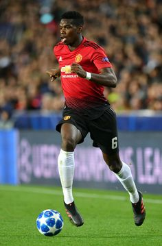 VALENCIA, SPAIN - DECEMBER Paul Pogba of Manchester United runs with the ball during the UEFA Champions League Group H match between Valencia and Manchester United at Estadio Mestalla on December 2018 in Valencia, Spain. (Photo by Dan Mullan/Getty Images) Paul Pogba, Everton, Soccer Inspiration, Manchester United Players, Don Juan, English Premier League, Sports Pictures, Man United, Uefa Champions League