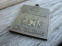 Vintage Brass The Monteleone New Orleans Hotel Lost Key Return Keychain Fob