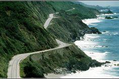 Pacific Coast Highway  The Pacific Coast Highway winds along the dramatic Northern California coastline.