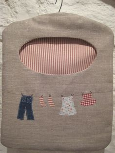 Ticketty Boo. Ticketty Boo Linen Washing Line Peg Bag ... clothes pin line.   Interesting thought to line it.