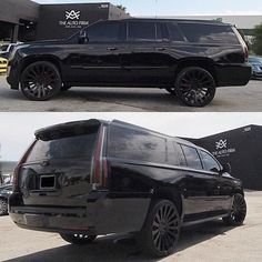 "More pictures of this Cadilac Escalade... All Black Everything... Sitting on 26"" Avorza AV23 Forged Wheels... #cadillac #escalade #black #allblackeverything #blackedout #AutoFirm #TheAutoFirm #Avorza #AlexVega #Cars #Car #Auto #Luxury #Exotic #Custom #Wheels #VIP #305 #MIA #Miami #carporn #KeepUp #AvorzaMovement"