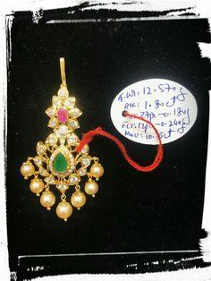 Plain Gold Bangles, Gold Bangles Design, Gold Jewellery Design, Mango Mala Jewellery, Tikka Jewelry, Ruby Necklace Designs, Gold Jewelry Simple, Bindi, Gold Necklace