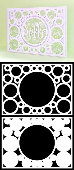 Free Circle Card Cover cutting files, from Bird's Cards (formats include ai, dxf, gsd, mtc, pdf, studio & svg) #Silhouette #CutFIle