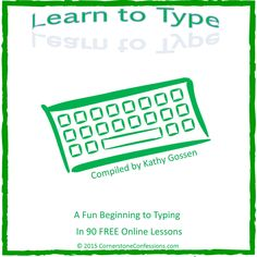Learn to Type--A Fun Beginning to Typing in 90 FREE Online Lessons (Free Lesson Plan Printable) Keyboard Lessons, Computer Lessons, Computer Basics, Technology Lessons, Computer Class, The Computer, Computer Teacher, Computer Literacy, Computer Tips