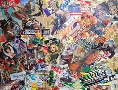 #Collage C.A.T.W.A.T.T.  Capitalism Around The World And The Time Mixup of garbage, envelopes and magazine clippings.
