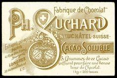 All sizes | French Tradecard Back - Chocolate Suchard | Flickr - Photo Sharing!