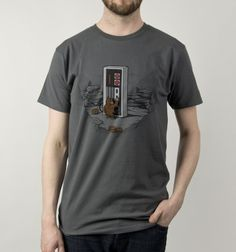 Dawn of Gaming - BustedTees -  Open the cartridge Hal! Design by Naolito
