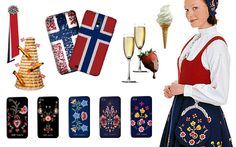 17.mai pynt til telefon! På ønskelista - ja! 17th of may decor for your phone. I want this! :D Constitution Day, Traditional Outfits, Norway, Scandinavian, Language, Clothing, Gifts, Shopping, Boss