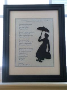 Mary Poppins Inspired Nanny Advertisement by storybooksilhouettes. Would be adorable in a nursery or play room
