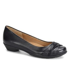 Love this Black Paley Leather Flat by Softspots on #zulily! #zulilyfinds