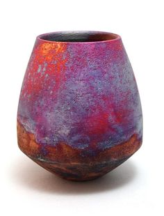 Raku Ceramic Art - Small Bowl by Chris Hawkins