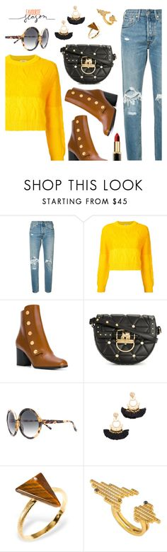 """""""Autumn style"""" by dressedbyrose ❤ liked on Polyvore featuring Levi's, Coohem, Mulberry, Balmain, N°21, Shashi, CHARLOTTE VALKENIERS, L'Oréal Paris, ootd and autumn"""