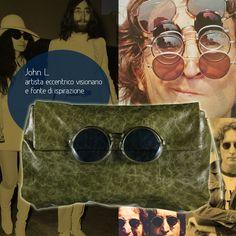 "JL BAG ""La realtà toglie molto all'immaginazione."" #JohnLennon #vintage #eyeglasses #sunglasses #glasses #occhiali #occhialivintage #poshead"