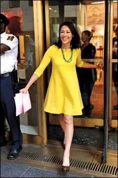 I love Ann Curry's simple style.  It probably is closest to mine of any celebrity