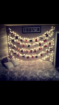 Photos of bride and groom with fairy lights