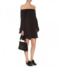 Tibi Off the Shoulder Cotton Mini Dress