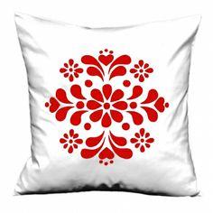Swedish kurbits flower cushion cover - hardtofind.