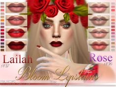 The Sims Resource: Bloom Lipstains - 2 Matte Lipsticks • Sims 4 Downloads